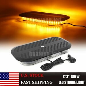17 3 Led Lights Bar Emergency Beacon Warning Strobe Tow plow Truck Amber 180w