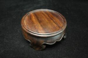 Quality Old Chinese Hand Carving Solid Wooden Stand Base For Vases Bowls Teapots