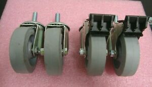 Lot 4 Colson Performa 4 X 1 25 Ball Bearing Threaded Swivel Casters 2 W brk
