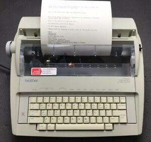 Brother Gx 6750 Correctronic Electronic Typewriter Tested Works Well