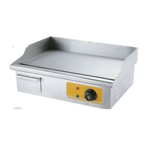 Commercial Electric Stainless Steel Flat Griddle 220 Volts