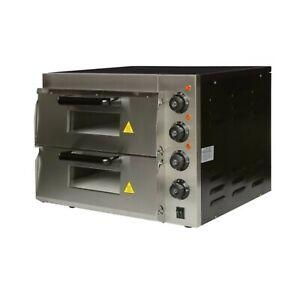 Commercial 16 Electric Stainless Steel Double Layer Pizza Oven 220 Volts