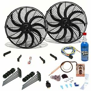 Super Cool Pack W 2 10 S Blade Fans Adj Temp Switch Harness Bracket Additive