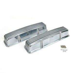Vintage Tall Finned Valve Covers W O Breather Holessmall Block Chevy