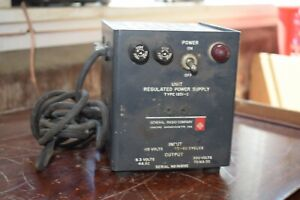 General Radio Unit Regulated Power Supply Type 1201 c Tested Ac dc Operating