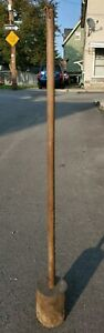 Vintage Primitive Wooden Sauerkraut Plunger Masher Stick Butter Churn Farm Decor