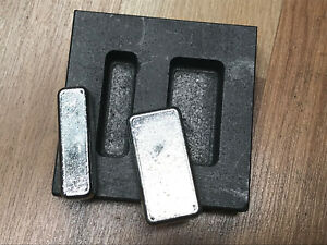 2 oz Loaf Bar - Silver Graphite Ingot Mold - Loaf Bar - Casting Melting Refining