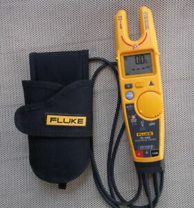 Fluke T6 1000 Clamp Meter Electrical Tester W field Sense Holster Case Incl Used