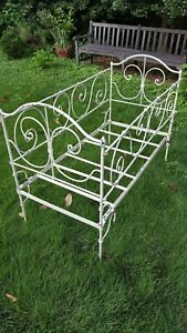 Antique French Wrought Iron Crib And Day Bed