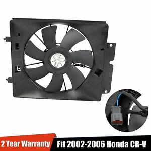 A C Ac Air Conditioning Condenser Cooling Fan Motor Shroud For 02 06 Cr V Crv