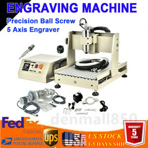 Cnc 3040 Router 5 Axis Engraver Engraving Metal Drilling Machine Ball Screw 800w