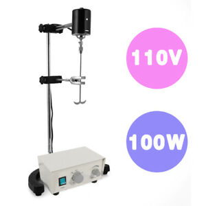 New 100w Electric Overhead Stirrer Mixer Variable Speed Height Adjustable 110v