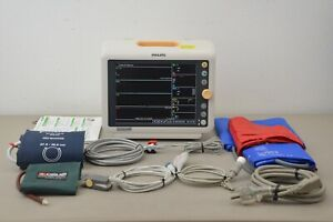 Philips Suresigns Vm8 Patient Monitor W Accessories Nibp Ibp Spo2 Temp Ecg Co2