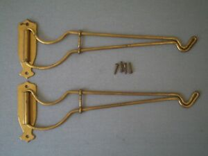 Pair Vintage Swinging Wire Wall Mount Hanging Plant Brackets 11 Simple Unique