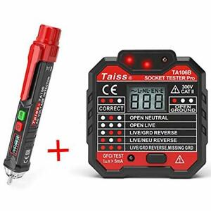 Twidec voltage Tester Pen Non contact With Led Flashlight Gfci Outlet Power