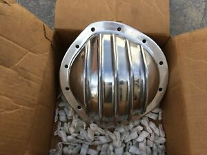 Custom Cast Polished Aluminum Rear Differential Cover Gm 8 875 12 Bolt Truck