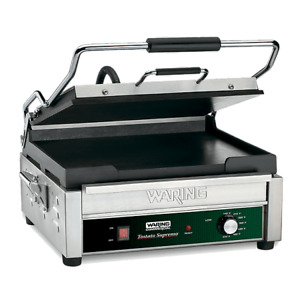 Waring Commercial Full Size 14 X 14 Flat Panini Grill 120v Model Wfg275