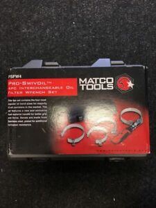 Brand New Pro Swivel Filter Wrench Set 4 Pieces Matco Tools Psfw4