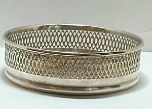 Vintage Silver Plated Champagne Or Wine Bottle Coaster 5 X 1 1 2