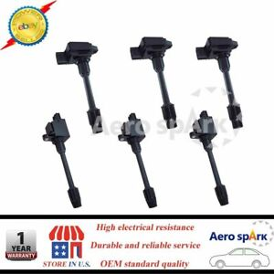 For Nissan Maxima Infiniti I30 Ignition Coils Set Of 6 Front Rear 2000 2001