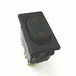 New Mcgill 0862 2312 Dpdt On off on Euro style 125v Ac Lighted Rocker Switch