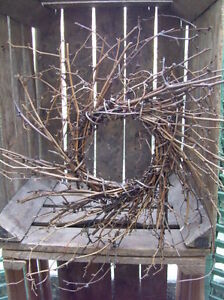 Primitive Twig Wreath Twiggy Rustic Farmhouse Cupboards Can Be Painted