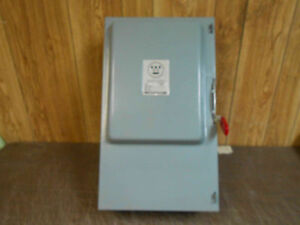 Gu 324 Westinghouse Switch 240v 200amp For 50 Hp Motor New Old Stock