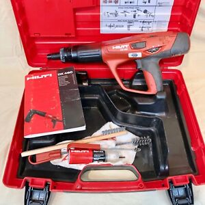 Nice Hilti Dx 460 F10 Powder Actuated Fastener Nail Gun W Case Works Great