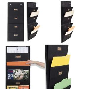 Wallniture Archivo Hanging File Folder Holder Document Organizer With Black
