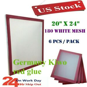 Usa 6pcs 20 X 24 Aluminum Screen Printing Screen Frame With 180 Mesh White
