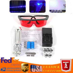 5mw Military Thor Blue Laser Pointer 450nm Lazers Beam Light Torch High Power Us