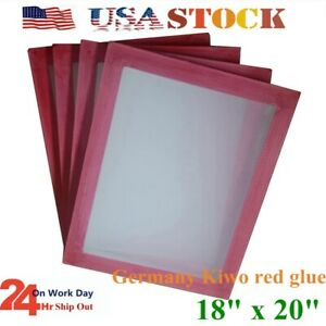 Usa 18 X 20 Aluminum Silk Screen Printing Screen Frame With 110 White Mesh