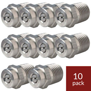 Pressure Washer Nozzle 10pk 2504 25 Degree Size 04 Threaded
