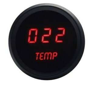 Intellitronix M9113r Red Led Water Temp Gauge 2 1 16 Black Bezel