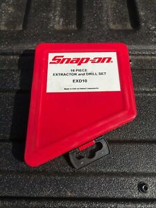 Snap On Exd10 10 Piece Right Hand Colbalt Extractor And Drill Set