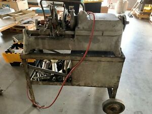 Used Ridgid 535 Pipe Threader Threading Machine With Stand And Accessories