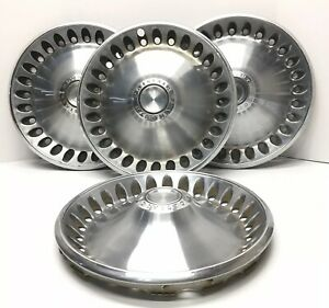 set Of 4 Plymouth Division 14 Hubcaps Oem