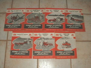 7 Vintage Ford Tractor Dearborn Farm Equipment Assembly Operating Instructions