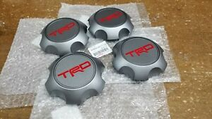 Toyota Trd Matte Gray Center Cap Set Tacoma 4runner Fj Cruiser Ptr20 35111 gr