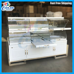 80 Bakery Showcase Donuts Bagels Pastry Dry Glass Display Case Counter Top New
