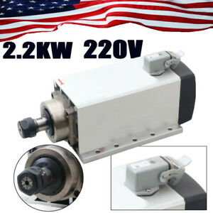 2 2kw Spindle Motor Er20 Air Cooled 18000rpm 220v Cnc Engraving usa Shipping