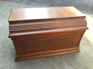 Sewing Machine Coffin Cabinet Cover Wooden Vtg Singer Top Antique Wood Table