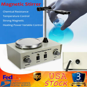 110v Magnetic Stirrer Mixer Stirring Machine Thermostatic Heat Hot Plate 1000ml