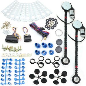2 Door Electric Car Truck Power Window Conversion Kit Switches 12a 12v Roll Up