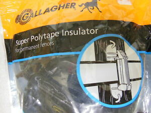 Gallagher Electric Fence Locking 1 1 2 Poly Tape Insulator Livestock New
