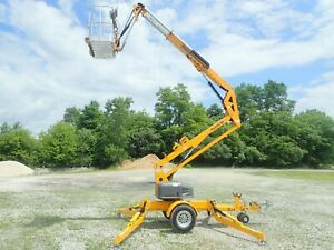 New Haulotte 3522a Electric Towable Lift 35 Height 17 5 reach Outriggers