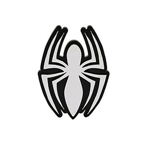 New Marvel Spider Man Easy To Stick Plastic Chrome Auto Emblem Decal