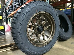 20x10 Fuel D671 Tech Bronze 35 Mt Wheel And Tire Package 6x5 5 Toyota Tacoma