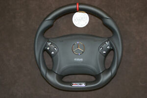 Mercedes Custom Small Thick Steering Wheel W203 C350 C32amg C55amg Leather Srs