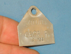 Autolite C6pf F A 7bb Carburetor Id Tag Replacement Off A 1964 Fairlane Ford
